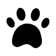 paw print pet icon image vector illustration design  black