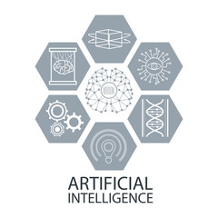 Artificial intelligence icons icon vector illustration graphic design