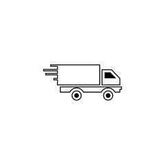 Goods transport in motion vector icon