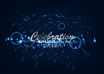 Vector abstract celebration event background