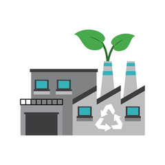 Green factory symbol icon vector illustration graphic design