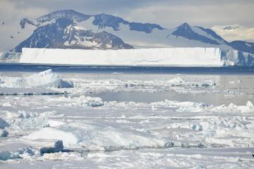 Antarctica ice field
