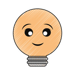 kawaii light bulb icon