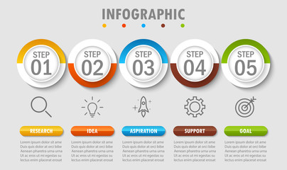 Business infographic modern data visualization