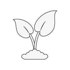 Plant eco symbol icon vector illustration graphic design