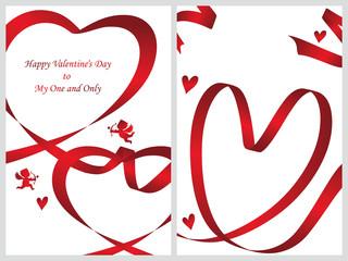 バレンタインカード テンプレートセット