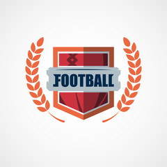 American Football Logo Template. Vector College Logos Illustration