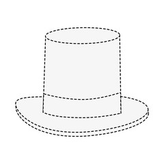 Magician hat symbol icon vector illustration graphic design