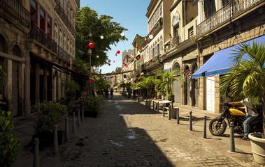 Street in Rio de Janeiro city, Brazil