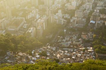 Inequality - contrast between poor and rich in Rio de Janeiro, Brazil