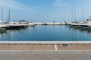 Yachthafen Renderbackplate von Santa Eularia auf Ibiza Spanien 1