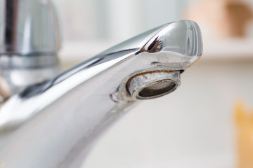 limescale in the bathrooms