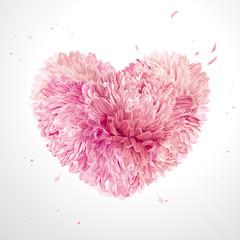 Flower Heart  for Valentine's Day