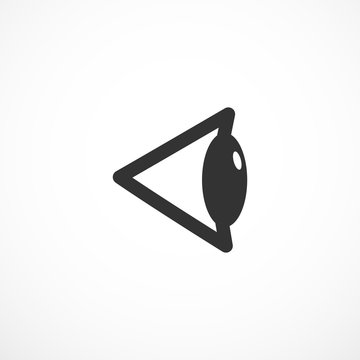 Vision sign icon