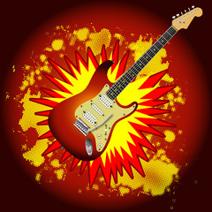 Cartoon Guitar Explosion