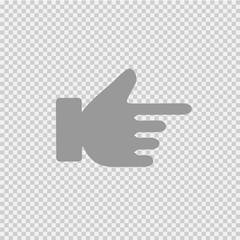 Hand pointing right. Vector icon eps 10.