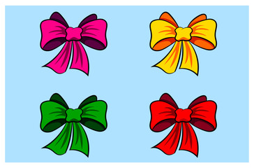 Bow-knot for congratulations, cards and gifts