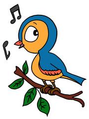 cute bird singing a song