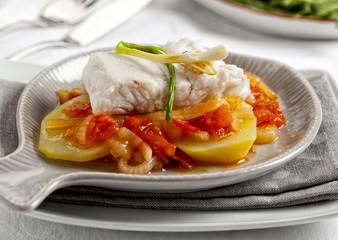 Fish fillet and potatoes