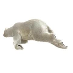 Large male Polar bear swimming on a white. 3D illustration