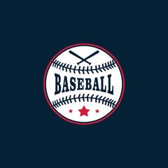 Baseball Club Logo Vector Template Design