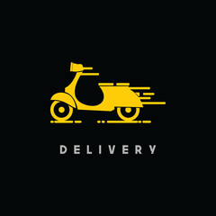 Scooter Delivery Vector Template Design