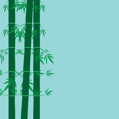 Bamboo Vector Template Design