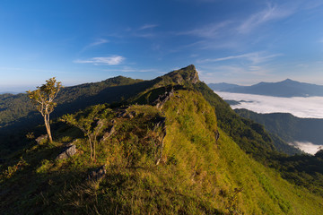 beautiful sunrise and View Point in Thailand