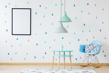 Blue and turquoise child space