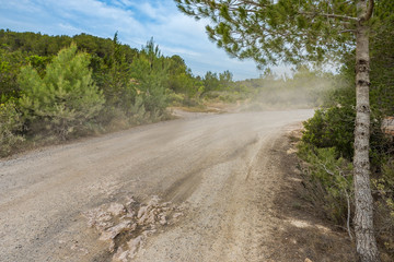 Rallyestrecke auf Ibiza Spanien