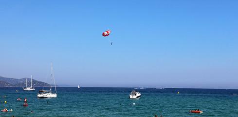 Le Lavandou - french Riviera - sailing boats and parasailing
