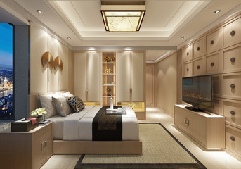 3d render of bedroom