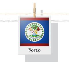 North America continent flag collection with photo of Belize flag , vector , illustration
