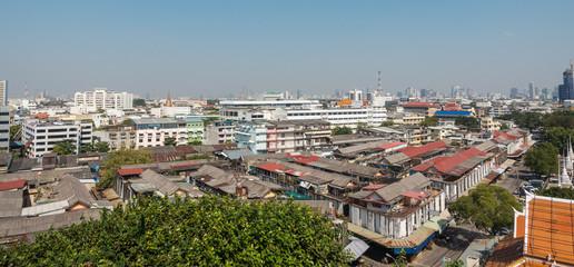 View of Bangkok from the Golden Mount at Wat Saket