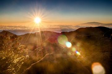 Sunrise at Puʻu ʻUlaʻula (Haleakalā Volcano Summit)