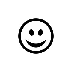 Happy flat smiley with a smile vector icon