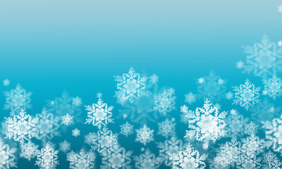 background winter snowflakes