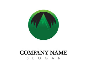 Mountain nature landscape  logo and symbols  icons template