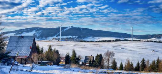 Panoramablick auf Oberwiesental und den Fichtelberg