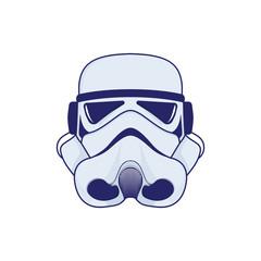 Stormtrooper mask from star wars. Vector illustrations