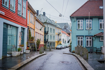 Colourful streets, Bergen, Norway