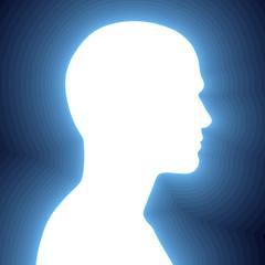 White human head