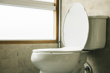 Toilet seat decoration in bathroom