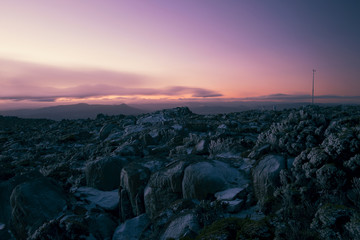 On top of Mount Wellington in Hobart, Tasmania during the day.
