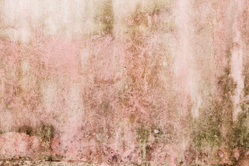 Old pink grunge concrete texture background. Abstract dirty concrete wall outdoor.