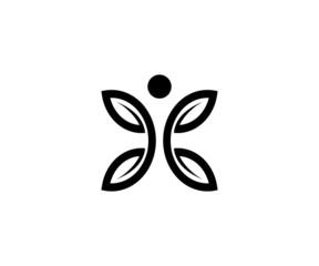 human leave logo vector