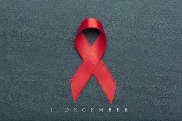 ribbon as symbol of aids awareness