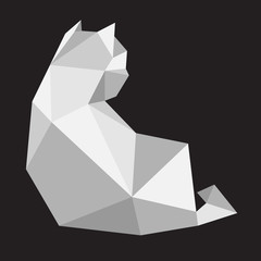 Cat Vector logo icon kitten illustration geometric Polygonal Art cartoon