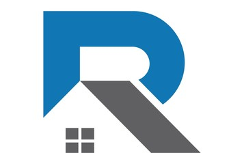 abstract home letter R logo