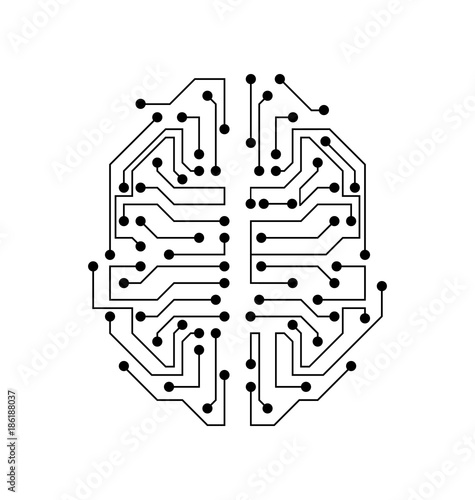 u0026quot stylized brain  circuit board texture  electricity mind